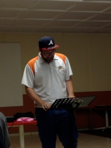 Me sharing my testimony at a meeting of Campus Outreach at the University of Johannesburg-Bunting Road in Johannesburg, South Africa.