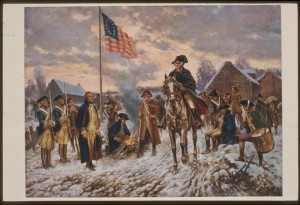 Americans at Valley Forge during the winter of 1777-1778.